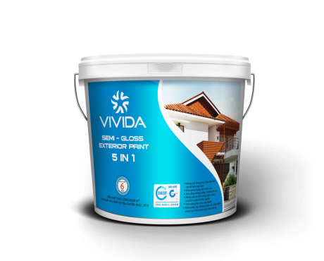 Semi – Gloss Exterior Paint 5 in 1