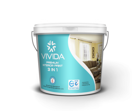 PREMIUM INTERIOR PAINT 3 IN 1