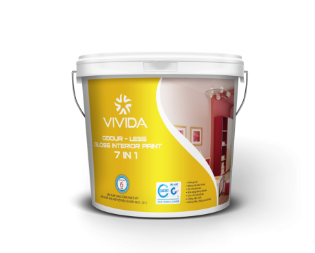 ODOUR – LESS GLOSS IN INTERIOR PAINT 7 IN 1
