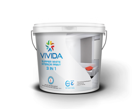 SUPPER WHITE INTERIOR PAINT 3 IN 1